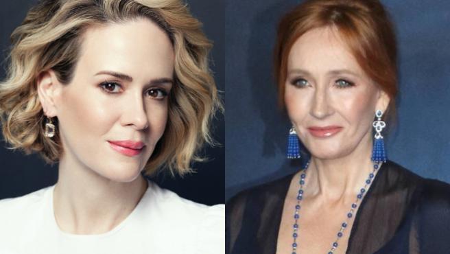 """¿Es J. K. Rowling """"escoria""""? Sarah Paulson arremete a retuits contra la creadora de 'Harry Potter'"""