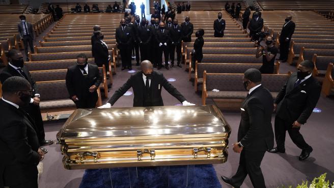 Imagen del funeral de George Floyd.