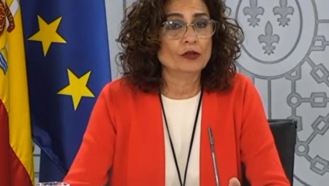 La portavoz Montero, en la rueda del prensa posterior al Consejo de Ministros