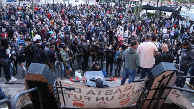 Manifestación en Barcelona por el cierre de Nissan.