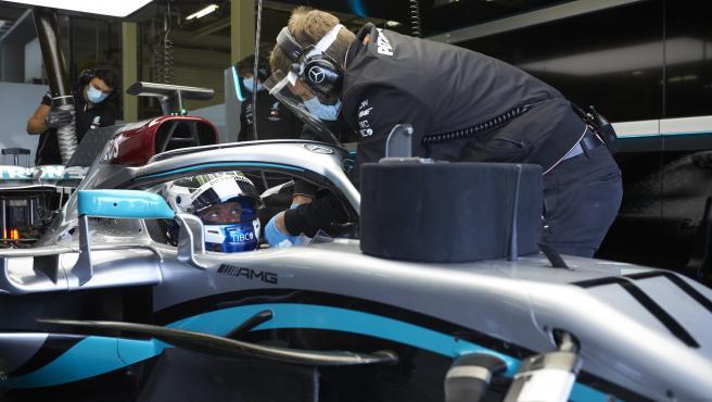 Valtteri Bottas, durante el test en Silverstone previo al arranque de la temporada.