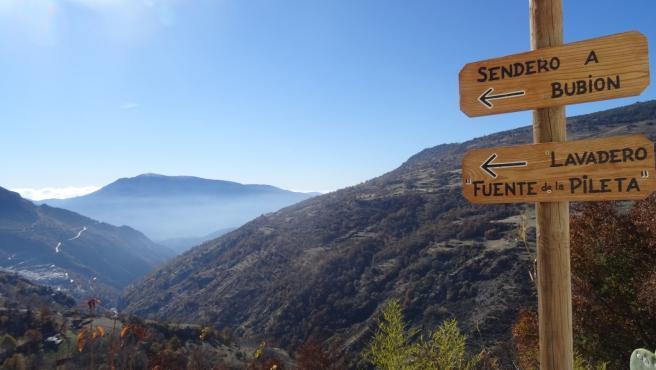 Imagen de senderos en la Alpujarra de Granada