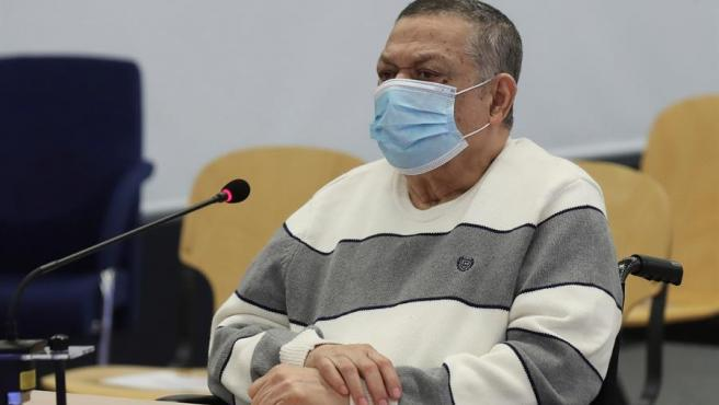 El excoronel y exviceministro de Defensa salvadoreño Inocente Montano, durante su juicio en Madrid por la matanza de cinco jesuitas españoles en El Salvador en 1989.