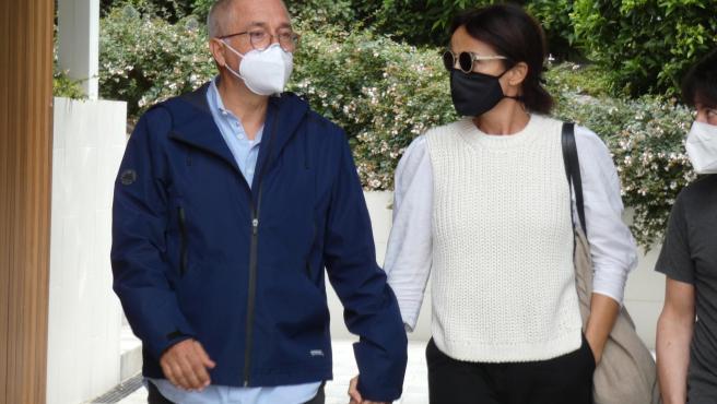 Familiares y amigos de Rosa Maria Sardà visitan el Tanatorio de Sancho de Ávila de Barcelona