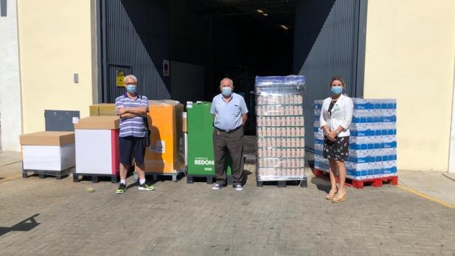 Mercadona dona productos de primera necesidad a Cáritas Parroquial Santa Eulalia de Mérida