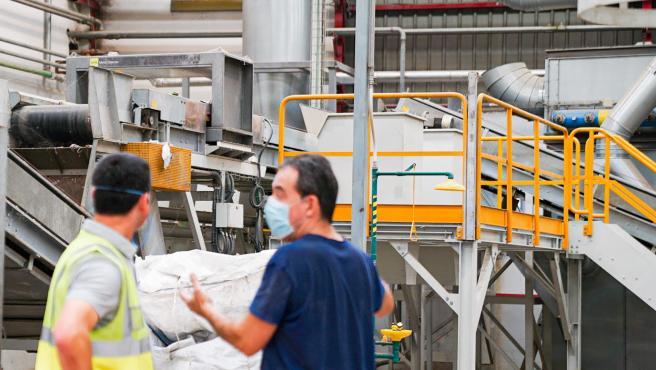 Reciclaje de plástico en la planta SP-Berner