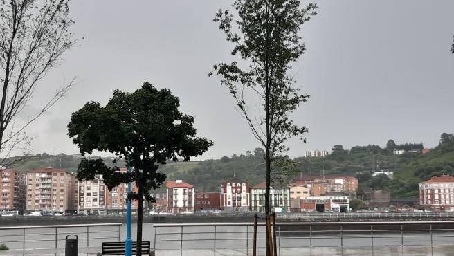 Cielos nubosos y lluvia en Bizkaia.