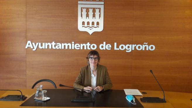 La concejala de Igualdad, Eva Tobías, en la rueda de prensa