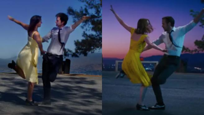 Recreación de una escena de La La Land.
