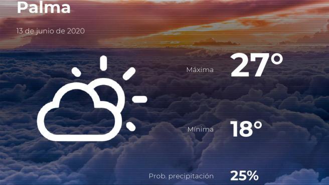 El tiempo en Baleares: previsión para hoy sábado 13 de junio de 2020