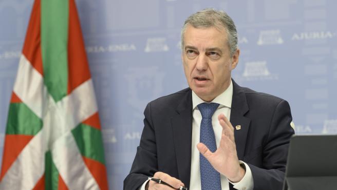 """Urkullu destaca la buena evolución de Euskadi pese a los focos """"controlados"""" de los hospitales de Basurto y Txagorritxu"""