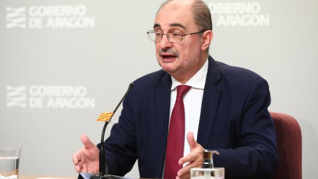 El Presidente de Aragón participa en la decimocuarta videoconferencia de presidentes autonómicos con Pedro Sánchez por el coronavirus