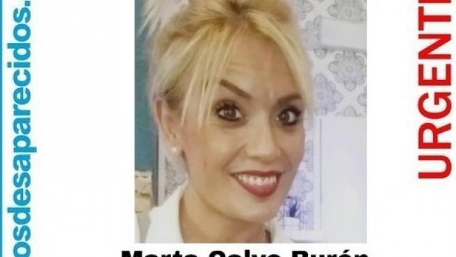 Cartel de la desaparición de Marta Calvo