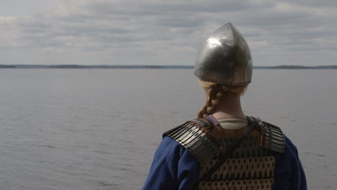 Una recreación de la guerrera vikinga.