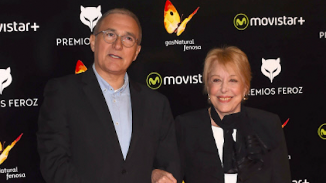 Javier y Rosa Maria Sardà en los premios Feroz del 2016.