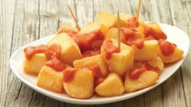 Un ración de patatas bravas