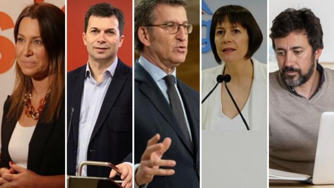 Candidatos/as a la presidencia de Galicia