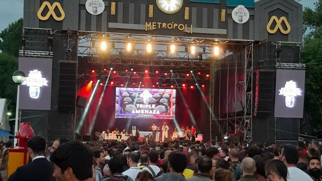 Concierto en el festival Metrópoli de Gijón, en 2019