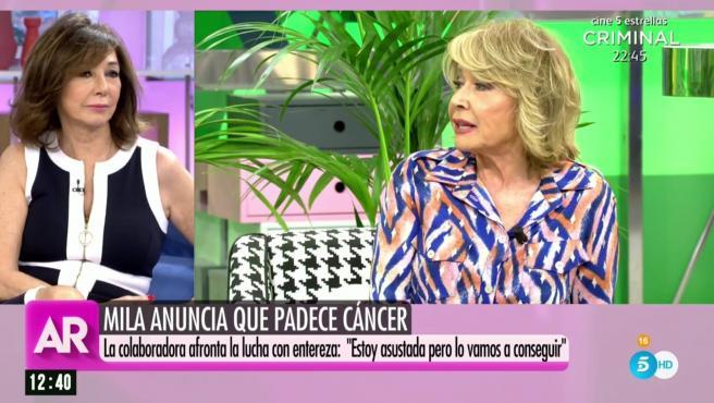 'El programa de Ana Rosa' analiza la noticia del cáncer de Mila Ximénez.