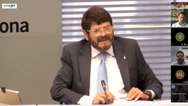 El teniente de alcalde de Seguridad de Barcelona, Albert Batlle, durante la Comisión de Presidencia