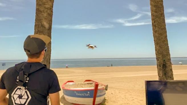 Uso de dron en playas de Estepona