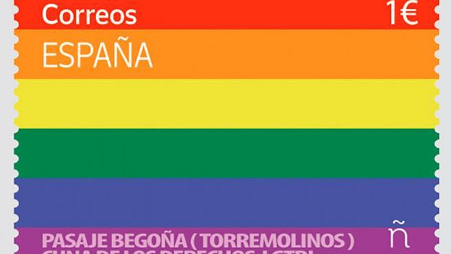 - Con motivo del Día del Orgullo LGTBI el próximo 28 de junio, Correos ha anunciado el lanzamiento de su primer sello LGTBI, con el fin de rendir homenaje a esta celebración mundial. El diseño de este sello tan especial, cuyo valor postal será de 1€, hace alusión directa al Pasaje Begoña, que en 2019 fue declarado Lugar de Memoria Histórica y cuna de los Derechos y Libertades LGTBI