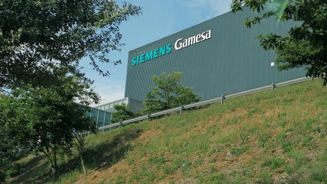 La planta que la multinacional Siemens Gamesa tiene en As Somozas (A Coruña) .