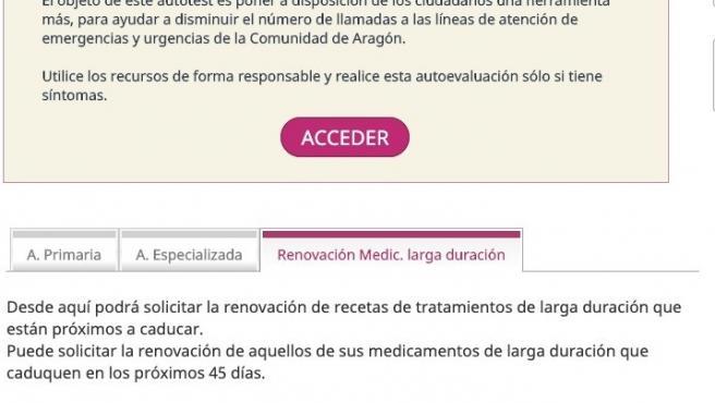 Imagen de la nueva funcionalidad de Salud Informa.