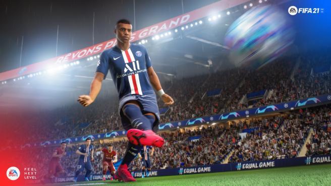 Mbappé, en una imagen del FIFA 21