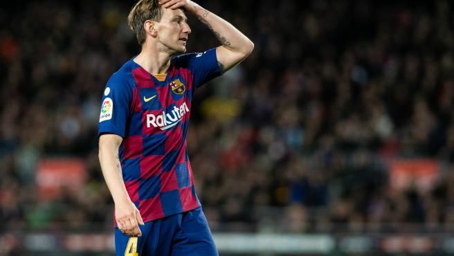 Ivan Rakitic, durante un partido con el Barcelona.