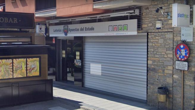 Imagen de la administración de Loterías de La Bruixa D'Or, en la localidad de Sort (Lleida).