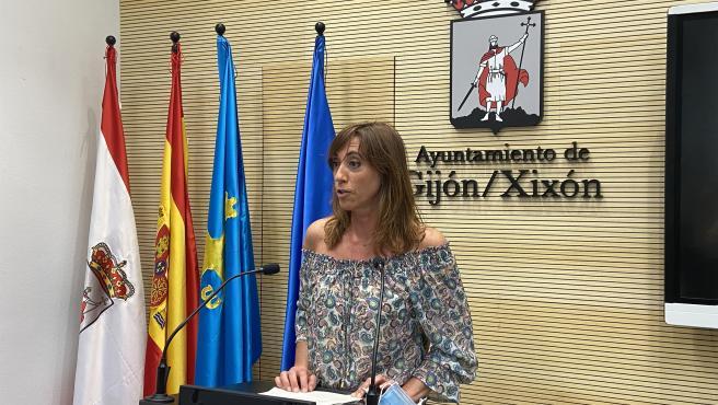 Ana Isabel Menéndez, concejala de Ciudadanos, en Gijón