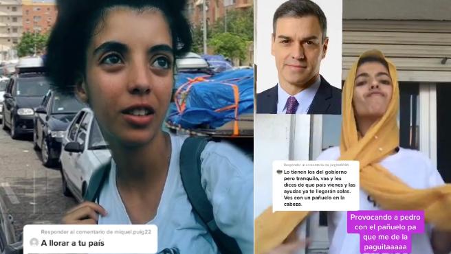 Hanan Midan, la joven marroquí que contesta con humor a los comentarios racistas.