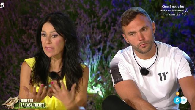 Maite Galdeano y Christian Suescun, en 'La casa fuerte'.
