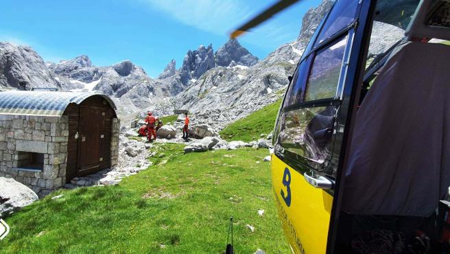 Rescate de montaña en Cabrales.