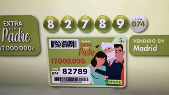 El número premiado en el sorteo del Día del Padre de la ONCE.