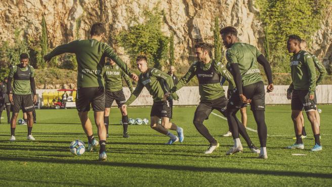 Entrenamiento del Mónaco en la ciudad deportiva de La Turbie
