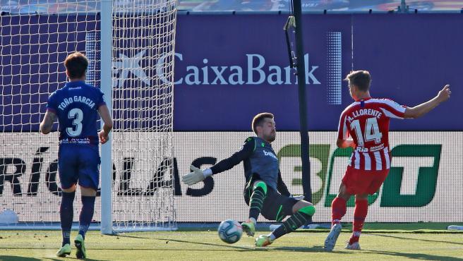 Marcos Llorente, en la jugada del gol del Atlético.