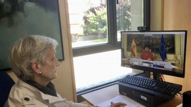 La consejera de Educación del Principado de Asturias, Carmen Suárez