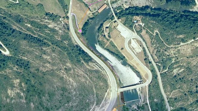 Plano de la ubicación donde se construirán la depuradora de Oroz-Betelu y la estación de bombeo