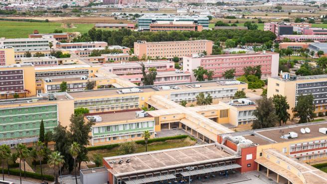 Vista área del campus de la UPO