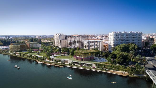 El proyecto 'Jardín de las Cigarreras' en la parcela del Puerto de Sevilla