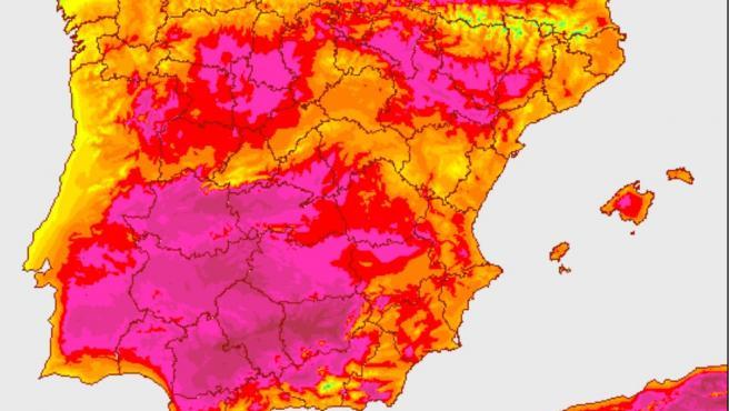 Previsión de temperaturas de AEMET