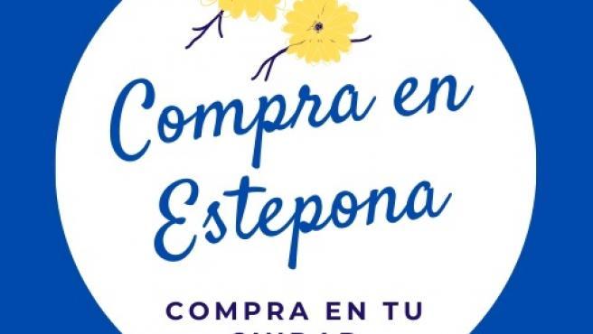 Cartel de campaña comercio en Estepona