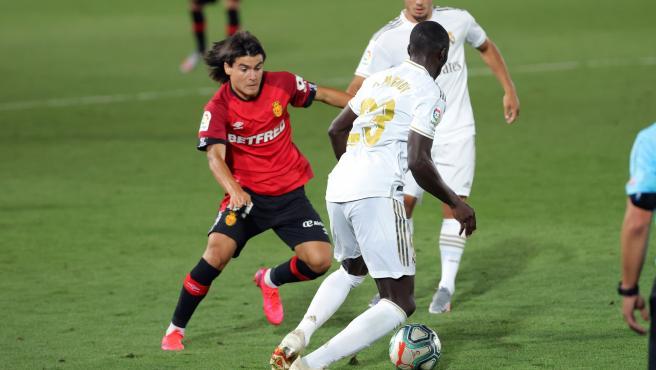 Luka Romero, durante su partido de debut en Liga