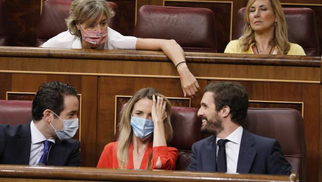Pleno de sesion de control al Gobierno en el Congreso de los Diputados con Pablo Casado, Cayetana Alvarez de Toledo y Teodoro Garcia Egea del PP.24/06/2020. Foto Javi Martinez/Pool.