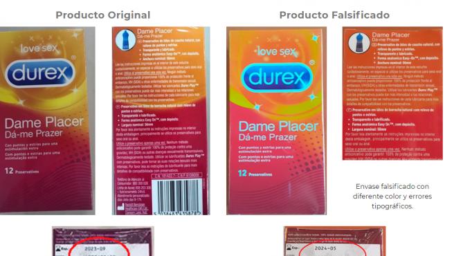Los errores que indican que son falsos los Durex Dame Placer