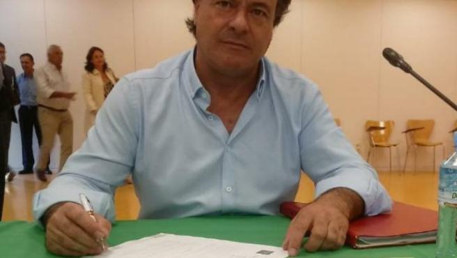 El portavoz de Vox en la Diputación de Sevilla, Rafael García Ortiz