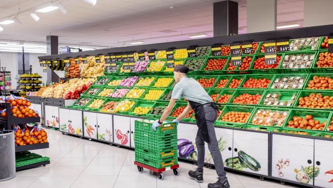 Interior de uno de los 66 supermercados de Mercadona en CyL.