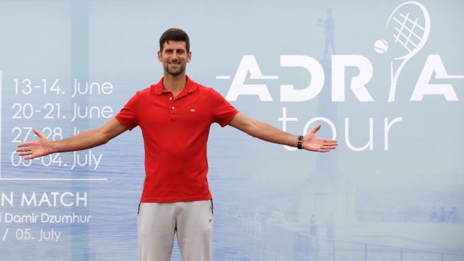 Novak Djokovic, durante la presentación del Adria Tour
